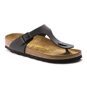 Birkenstock Giseh Black Leather Sandals 36 Sz 5.5